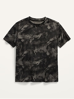 Go-Dry Short-Sleeve Camo-Print Mesh Performance Tee for Boys