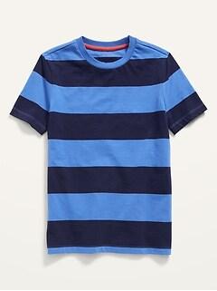 Vintage Striped Short-Sleeve Tee for Boys