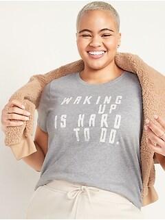 T-shirt col rond Tout-aller à imprimé pour femme