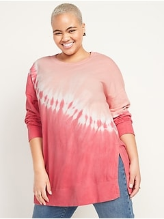 Oversized Vintage Specially Dyed Tunic Sweatshirt for Women