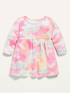 Long-Sleeve Printed Jersey Dress for Baby