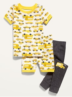 3-Piece Printed Pajama Set For Toddler & Baby