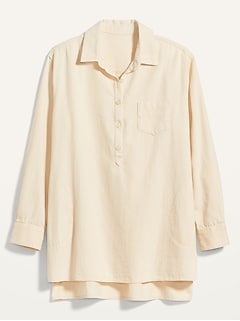 Oversized Popover Tunic Top for Women