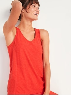 Breathe ON Tie-Back Tank Top for Women