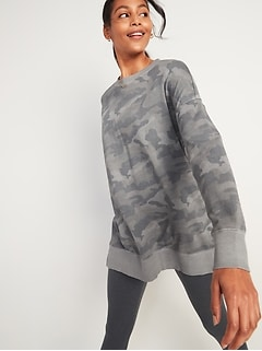 Oversized Specially Dyed Tunic Sweatshirt for Women