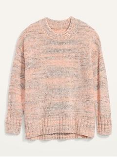 Oversized Cozy Space-Dye Sweater for Women
