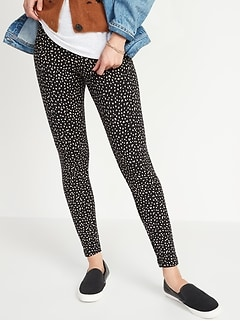 High-Waisted Cozy-Lined Cheetah Print Leggings for Women