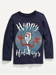 Unisex Disney/Pixar© Toy Story™ Forky Holiday-Graphic Long-Sleeve Tee for Toddler