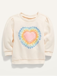 Unisex Heart-Graphic Pullover Sweatshirt for Baby