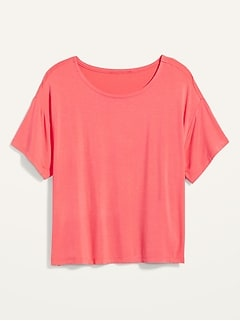 T-shirt ample en jersey ultra-doux, taille forte
