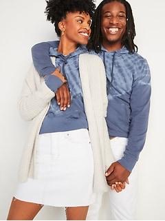 Vintage Gender-Neutral Tie-Dye Pullover Hoodie for Adults