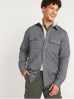 French Terry Shirt Jacket for Men
