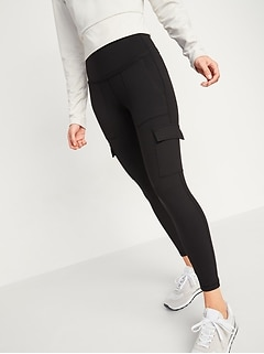High-Waisted Elevate Cargo 7/8-Length Compression Leggings for Women