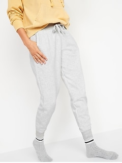 Mid-Rise Vintage Street Jogger Sweatpants for Women