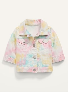 Rainbow Tie-Dye Jean Jacket for Baby