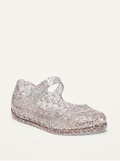 Chaussures Mary-Jane translucides scintillantes pour Toute-petite Fille