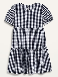 Short-Sleeve Tiered Dress for Girls
