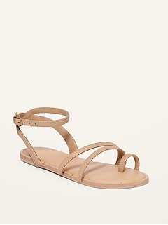 Faux-Leather Strappy Sandals for Girls