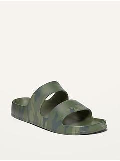 Gender-Neutral EVA Printed Double-Strap Slide Sandals for Kids