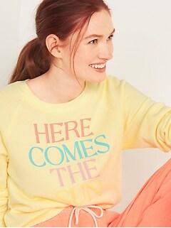 Vintage Crew-Neck Sweatshirt for Women