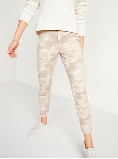 High-Waisted Patterned Pixie Ankle Pants