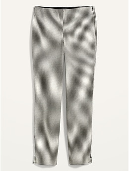 Pantalon à la cheville en sergé coupe super moulante à taille haute pour femme