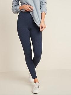 Leggings en jersey à taille haute pour femme