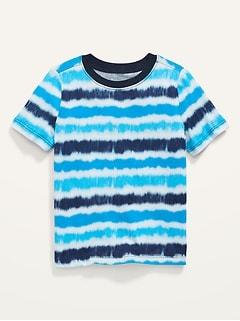 T-shirt à manches courtes teint par nœuds pour Tout-petit Garçon