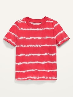 Vintage Short-Sleeve Tie-Dye Tee for Toddler Boys