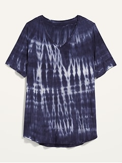 Luxe Tie-Dyed Plus-Size Tunic Tee