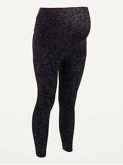 Maternity Full-Panel Elevate Powersoft Side-Pocket 7/8-Length Leggings