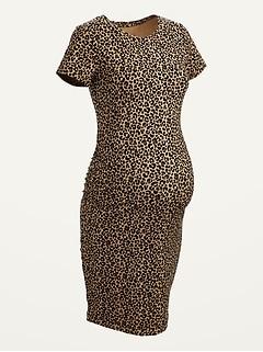 Maternity Jersey Short-Sleeve Bodycon Dress