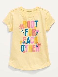T-shirt à imprimé à manches courtes pour Toute-petite Fille