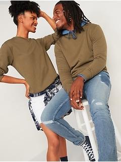 Soft-Washed Crew-Neck Gender-Neutral Sweatshirt for Men & Women