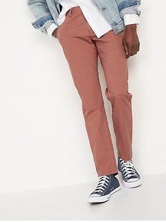 Athletic Taper Lived-In Khaki Non-Stretch Pants for Men
