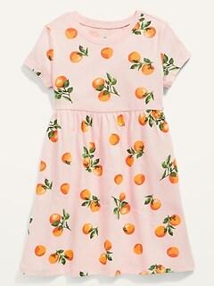 Fit & Flare Short-Sleeve Jersey Dress for Toddler Girls