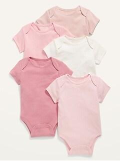 5-Pack Short-Sleeve Bodysuit for Baby