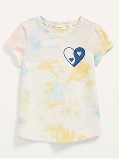 T-shirt rétro à manches courtes pour Toute-petite fille