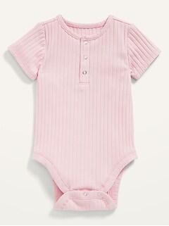 Cache-couche henley unisexe en tricot côtelé pour Bébé
