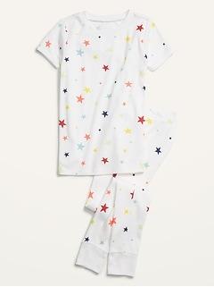 Gender-Neutral Snug-Fit Printed Pajama Set for Kids