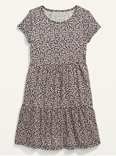 Tiered Jersey Fit & Flare Dress for Girls