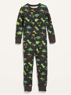 Printed Pajama One-Piece For Toddler & Baby