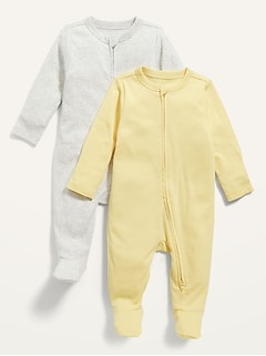Solid Footed One-Piece 2-Pack for Baby
