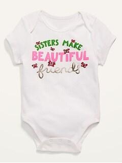 Graphic Short-Sleeve Bodysuit for Baby