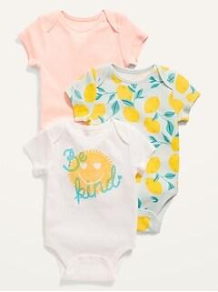 Cache-couches à manches courtes pour Bébé (paquet de3)