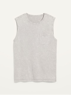Vintage Garment-Dyed Gender-Neutral Sleeveless Tee for Adults