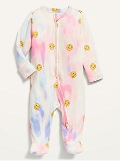 Pyjama une-pièce teint par nœuds à pieds avec mitaines rabattables pour Bébé