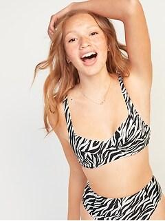 Haut de bikini imprimé à armature pour Femme