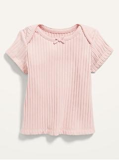 Haut à manches courtes en tricot côtelé pour Bébé