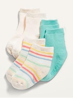 3-Pack Printed Crew Socks for Baby